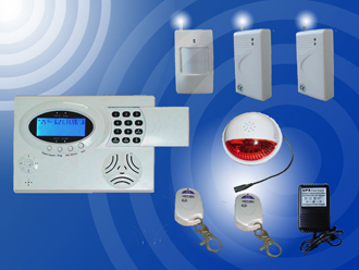 Wireless LCD Burglar Alarm